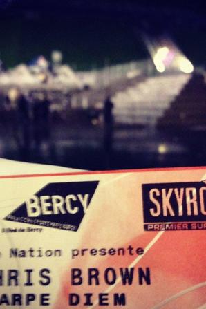 Chris Brown  Bercy avec Skyrock!