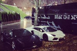 Chris Brown sa lamborghini avant/apr�s son accident!