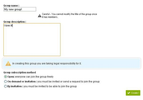 How to create a group