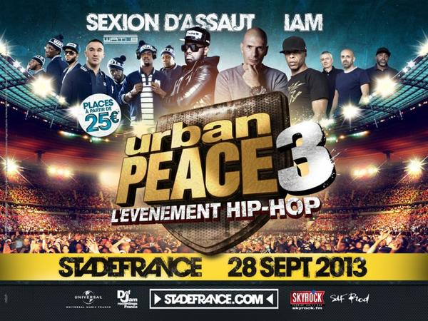 Urban Peace 3 revient en Septembre 2013 au Stade de France