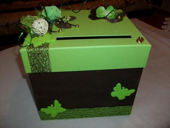 Urne de mariage marron et vert anis la copie n 39 est pas un art l 39 imitation - Chambre vert anis et marron ...
