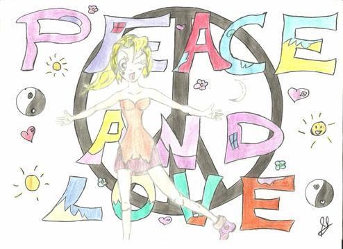 Un dessin sur le th me peace and love qu 39 en pensez vous d my world 3 - Dessin peace and love ...