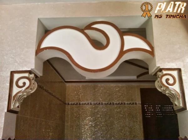 Arche plaque platre decoration for Decoration jebes